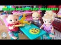 Baby Alive making food cooking mother's day breakfast