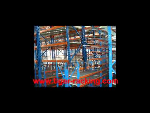 Save Space VNA Pallet Racking and Steel Structure Mezzanine Racking System