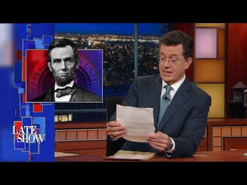 Late Show Exclusive: Newly Discovered Presidential Love Letters