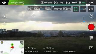 DJI MAVIC PRO vs MAVIC PRO porovnání rychlostí v GPS, SPORT