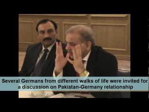 Shahbaz Sharif addressing German Community in German Language