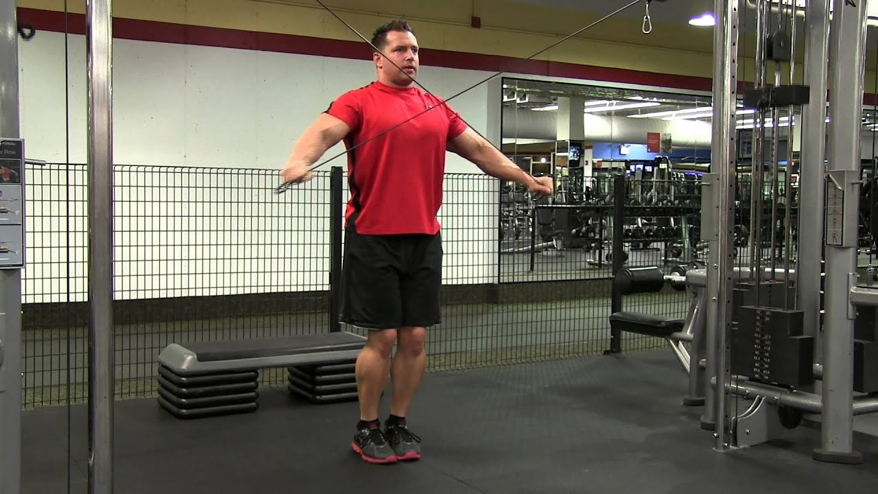 Cable Crossover Rear Delt Fly - YouTube
