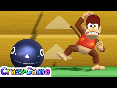 Mario Party 9 Step It Up #156 Daisy (Chain Chomp) vs Peach (Diddy Kong) Gameplay (Master CPU)