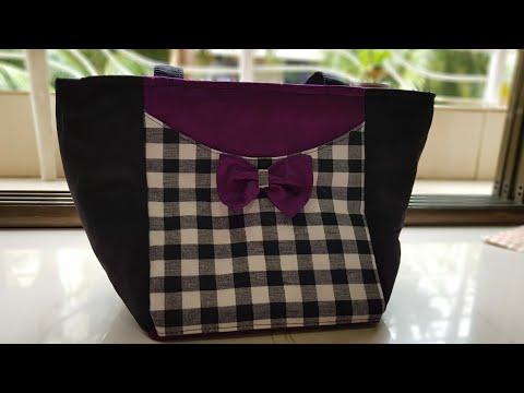 DIY Fancy Office Bag, Fancy Purse, खूबसुरत बॅग बनाइये घर पे, new designer bag,  designer purse