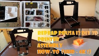 Reprap Prusa i3 DIY 3D Printer Assembly // How-To  (UHD - 4K !)