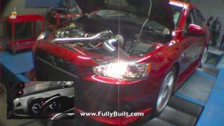 FBI Evo X Dyno 605whp on PUMP GAS and 646whp on C16