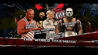 TNA Destination X 2009: World Champion Sting beat Kurt Angle