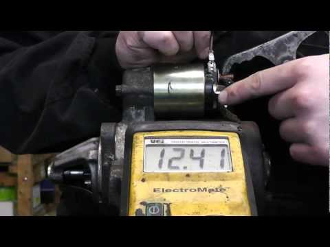 How to bench test starter motor.