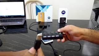 Conectando HD externo, Pen drive, Teclado, Mouse e Joystick ao  Moto X Style