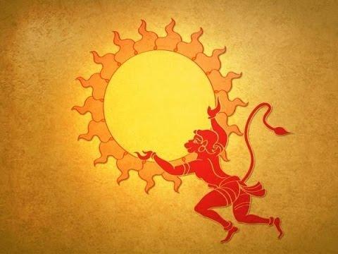 Hanuman and the sun...