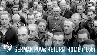 WWII German Prisoners Return Home (1955) | British Pathé