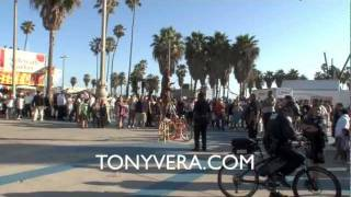 LAPD & Paris Hilton VS venice beach Nut job