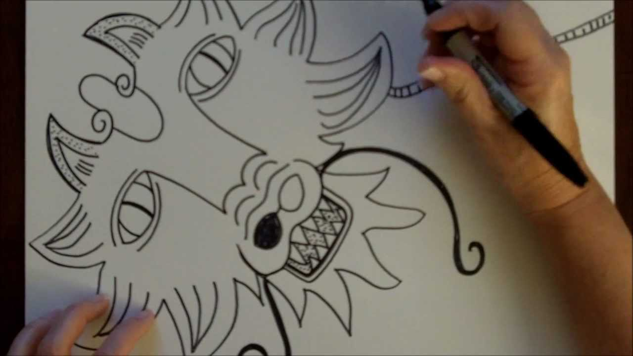 How to draw a dragon step by step drawing tutorial free for Free online drawing lessons step by step