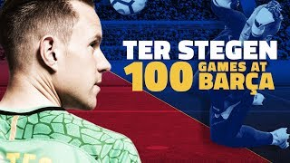 Download Ter Stegen celebrates 100 games with Barça 3Gp Mp4