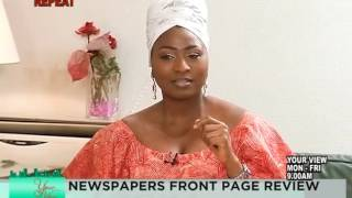 39I monitor everything from my bedroom39 - Aisha Buhari | YourView | TVC News