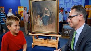 This Boy He Bought A Painting For $2 – But Couldn't Believe When He Heard How Much It Was Worth