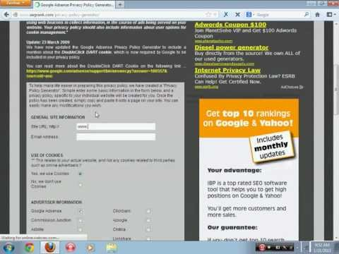 Easiest Way To Make An Adsense Privacy Policy For Your