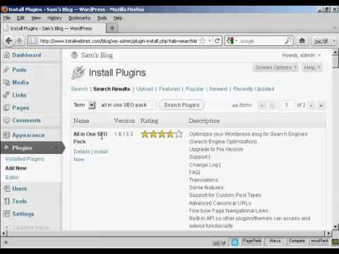 Video 8   How To Install Plugins Automatically