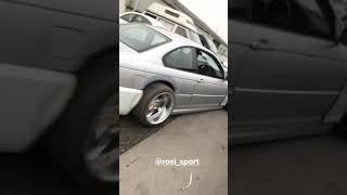 BMW E46 slammed drift car First drive on new chassis work