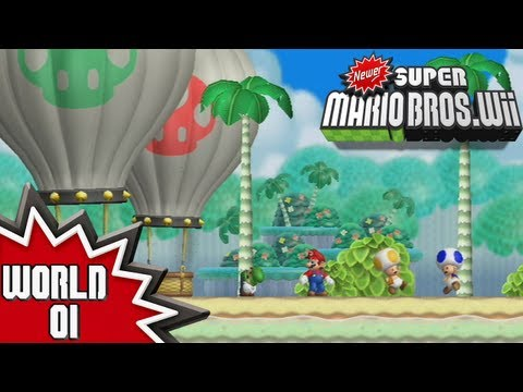 Newer Super Mario Bros. Wii - World 1 (1/2)