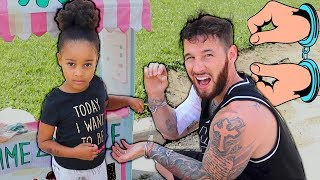 Cali Teaches Daddy Stealing is Bad | Kids Pretend Play | FamousTubeKIDS