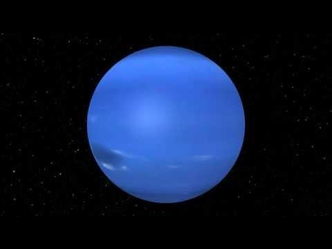 Rotation 3D de la planète Neptune n°1