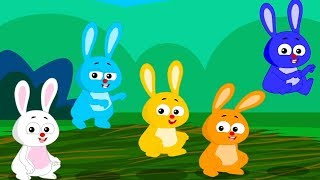 Five Little Rabbits | Nursery Rhymes | Baby Songs For Children | Kids Rhyme