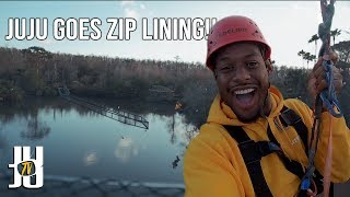 JuJu Goes Zip Lining with Danny Duncan!