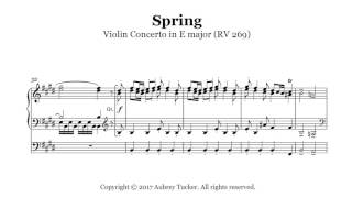 Organ Vivaldi Spring Four Seasons Violin Concerto In E Major Rv 269