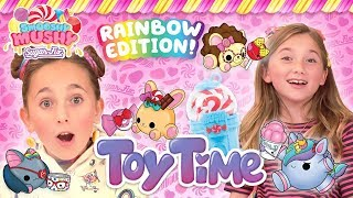 Toy Time Rainbow Edition! Episode 6 | Kids Crayon Crafts, Smooshy Mushy Sugar Fix Unboxing & Review
