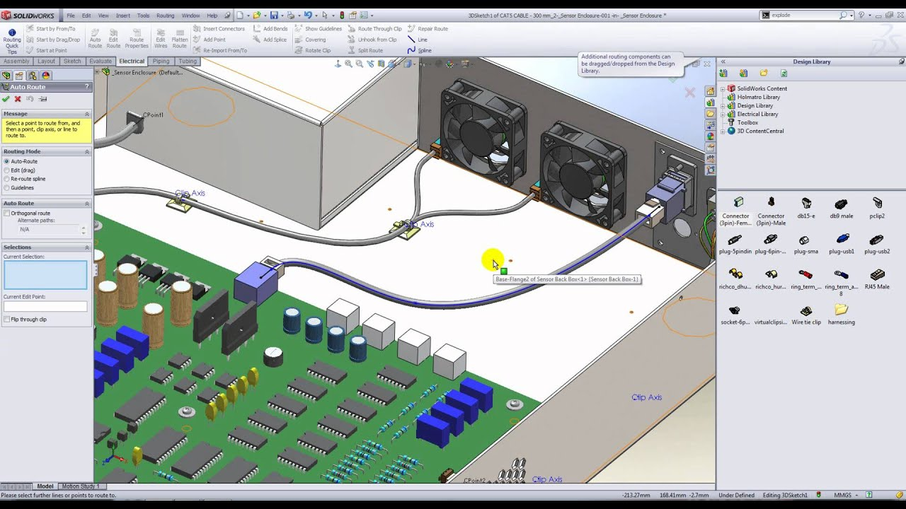 An Introduction To Electrical Routing In Solidworks