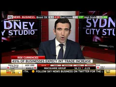 SKY News Business - AFEX Currency Risk Survey Results, Richard Poulton ASIA Pacific Manager