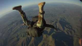 Military Freefall (MFF) Graded Test #2 With Parachutist Drop Bag & Weapon