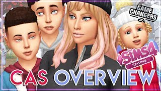 CAS OVERVIEW ☔☀️🌨️❄️ | The Sims 4 Seasons Expansion Pack