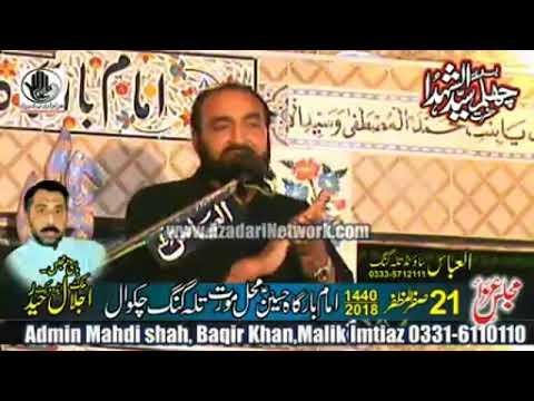 Agha Ali Hussain || Majlis 21 Safar 2018 Hussain Mahal Moorat ||