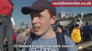 School students strike in London for action on climate change