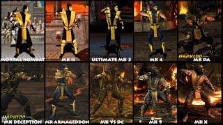 Mortal Kombat SCORPION Graphic Evolution 1992-2015 | ARCADE PSX PS2 XBOX PC | PC ULTRA