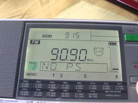FM 91 MHz Radio One Karachi 21 June 2012 Siliguri 2147 km Sangean ATS909X