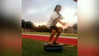 5 different exercises with a Bosu ball for soccer or football