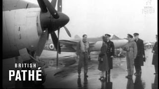 Gannit - Selected Originals - Queen Visits Naval Air Command Aka Queen Inspects Gannet Aircraft (1952)