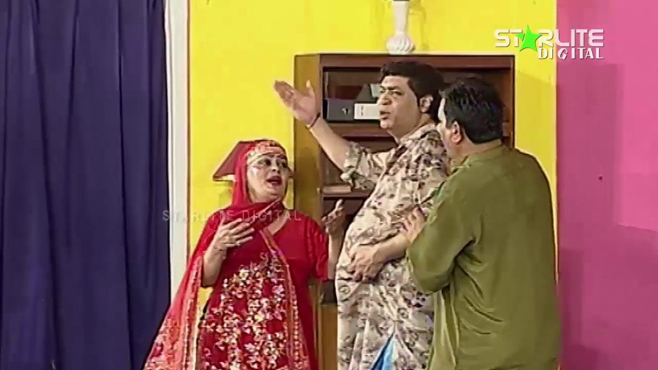 Best Of Nasir Chinyoti New Pakistani Stage Drama Full Comedy Funny Clip