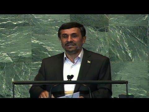 Iranian President Mahmoud Ahmadinejad Addresses United Nations General Assembly