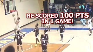 JJ Culver scored 100 POINTS in game! Big Dunk!