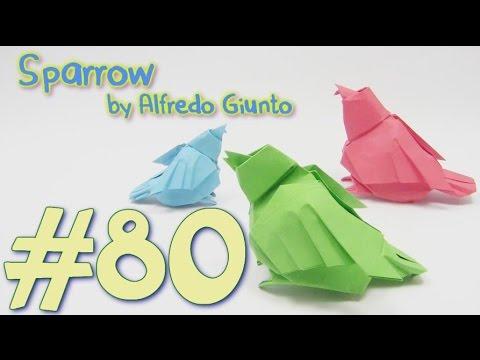#80 Origami Bird SPARROW - Yakomoga Origami tutorial