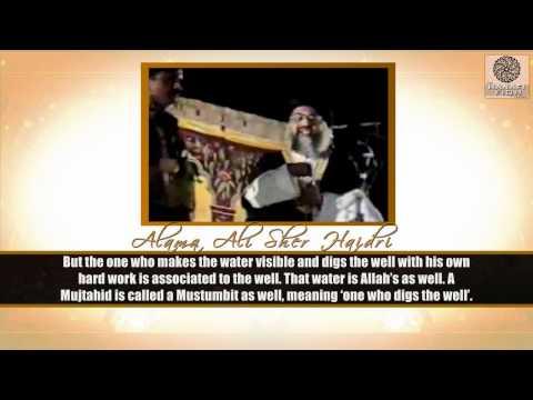 Best Explanation Of Ijtihaad istimbaat- Allama Ali Sher Haidri video