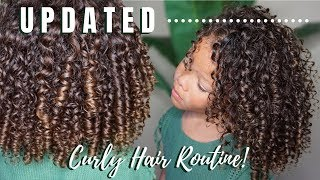 [UPDATED] CURLY HAIR ROUTINE! TYPE 3B CURLS | KID FRIENDLY!