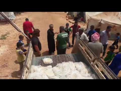 MUSLIM DAILY BREAD DISTRIBUTION IN SYRIA REFUGEE CAMPS - MAY 2016