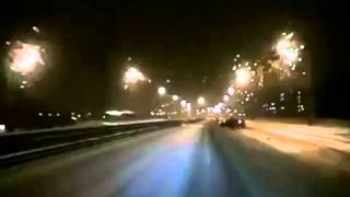 DASH CAM  SPEEDING CAR Hits Drunk Going Perpendicular on the Road
