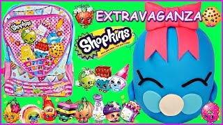 SHOPKINS GIANT Play Doh Surprise Egg and BACKPACK | Bubbles