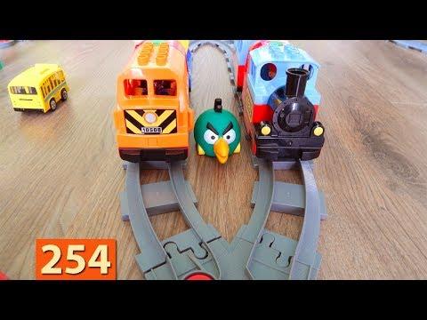 Поезда Мультики про Паровозики Лего Поезд Город машинок 254 серия Мультики для детей про игрушки